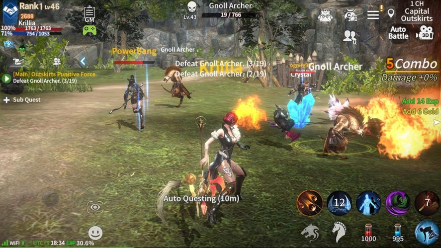 RebirthM screenshot mejores MMORPG Android