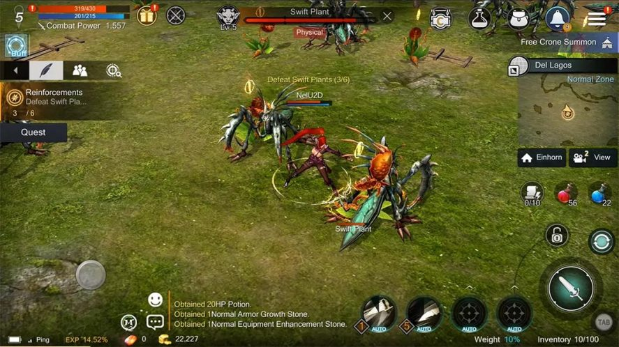 Rohan M screenshot mejores MMORPG Android