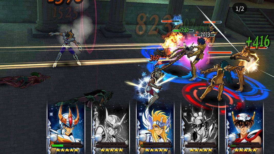 Saint Seiya Cosmo Fantasy screenshot contra los caballeros de oro