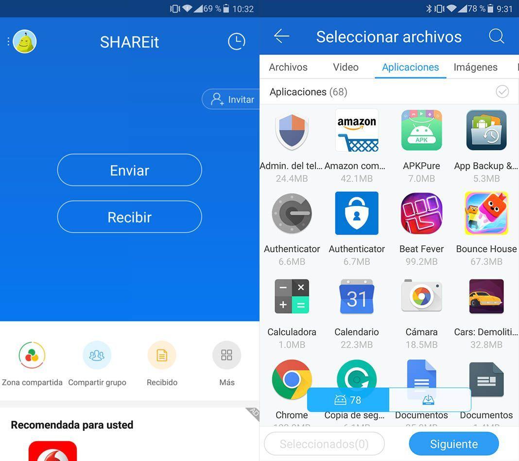shareit screenshot 1 SHAREit permite enviar archivos sin necesidad de usar Internet