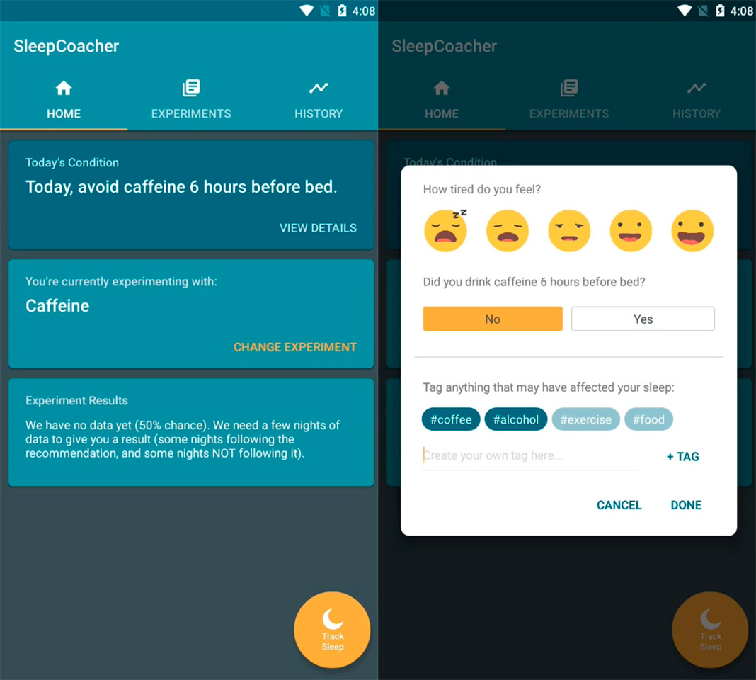 sleepcoacher screenshot Las diez mejores apps para Android del mes [junio 2018]