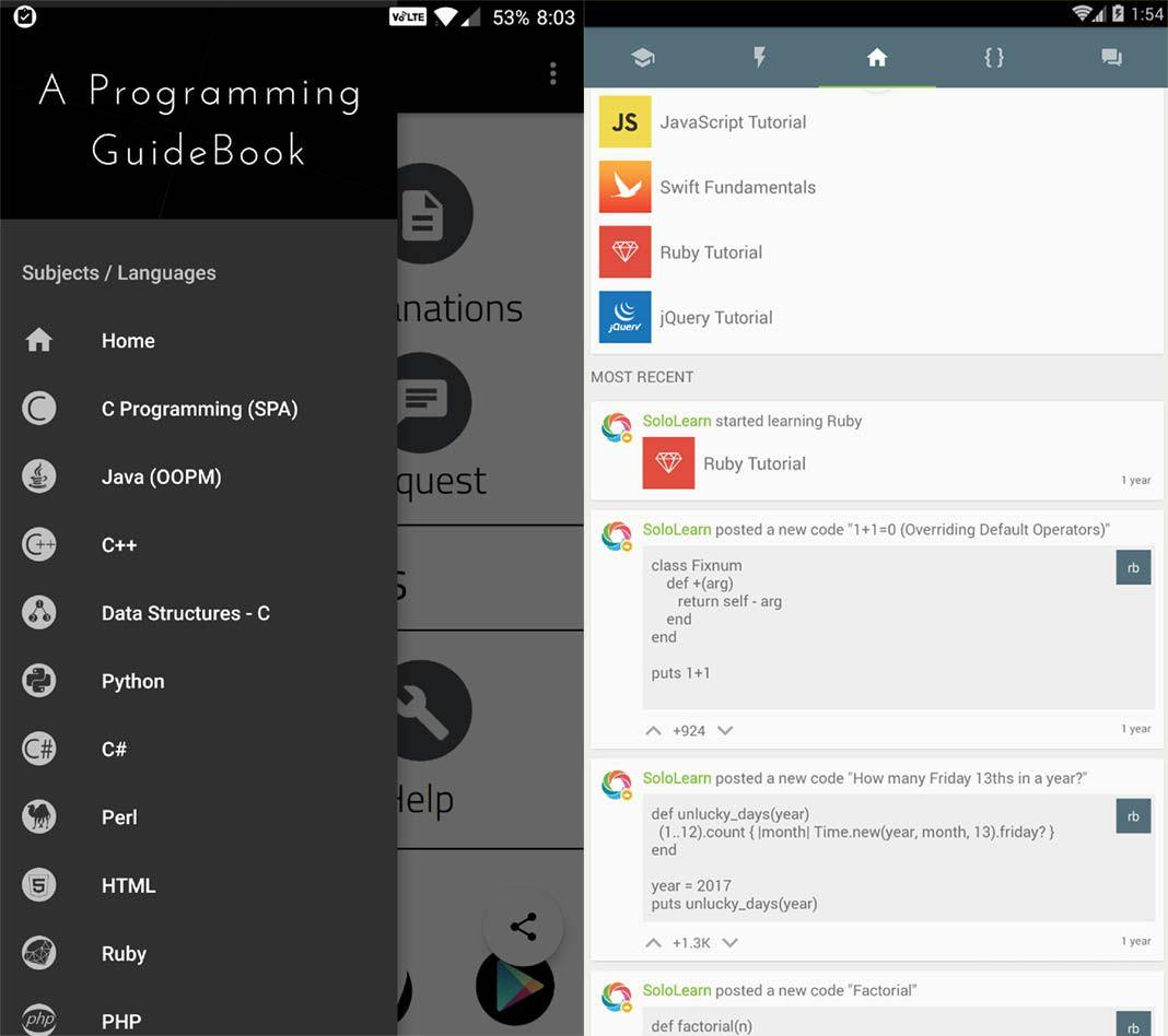 sololearm codenza screenshot 1 Diez apps Android de diseño gráfico
