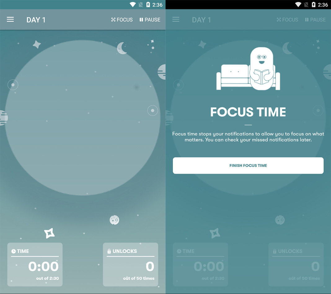 space screenshot 10 Android apps to help you overcome smartphone addiction