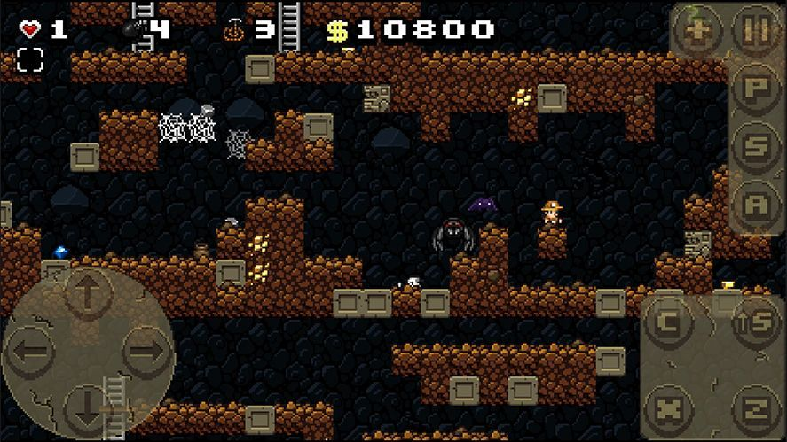 the classic spelunky comes to android in a very faithful adaptation