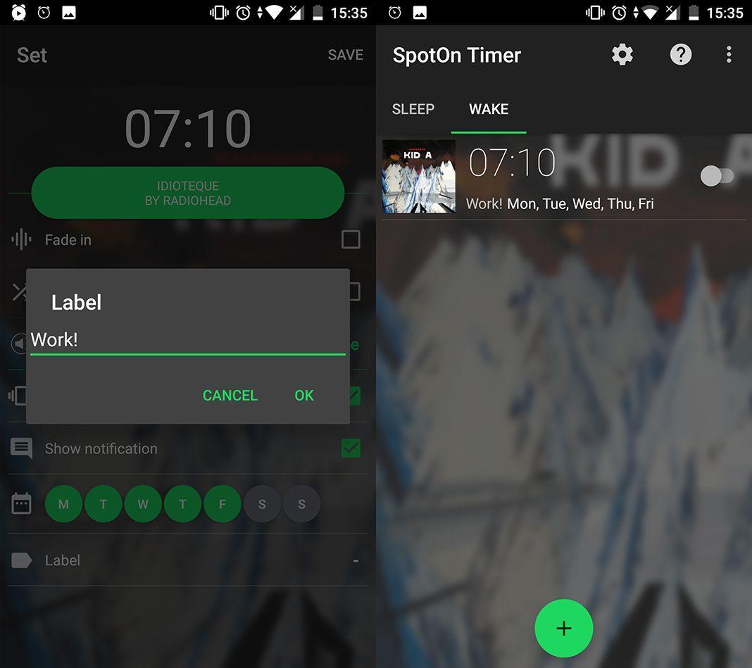 SpotOn Alarm Spotify