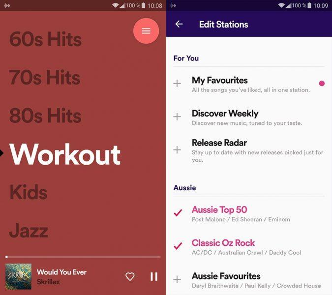 stations spotify app 1 Spotify lanza una nueva app oficial para escuchar radios online