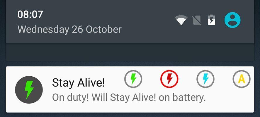 stay alive notificacion Ocho originales apps para personalizar tu smartphone