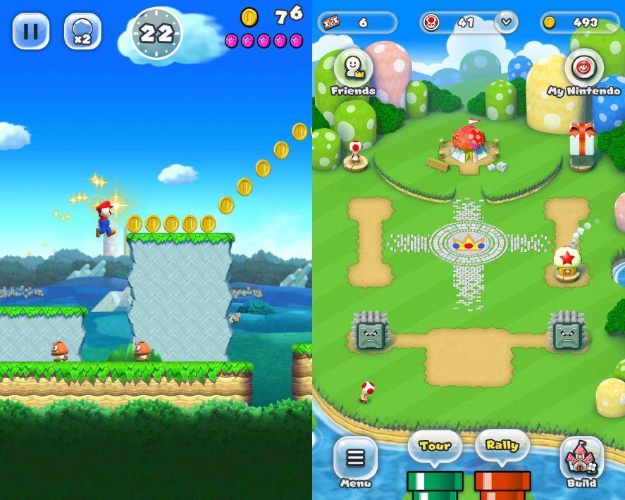 super mario run screenshots 1 Estos son todos los juegos de Nintendo para Android