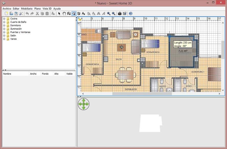 C mo crear una representaci n 3d de tu vivienda uptodown for Programa para crear habitaciones 3d