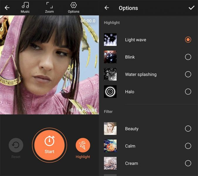 tapslide screenshot 1 en How to create music videos easily with your smartphone