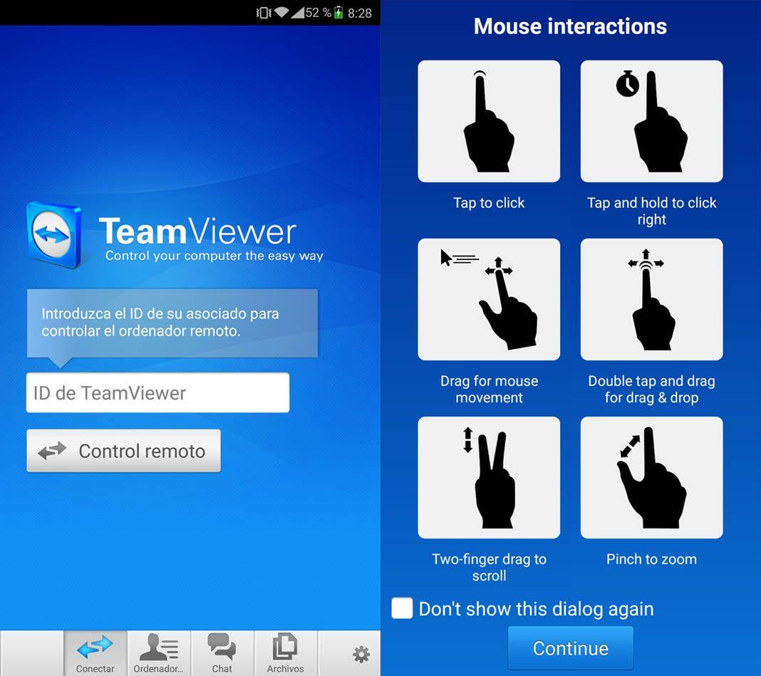 teamviewer pc android 1 Cómo controlar PCs de forma remota desde nuestro smartphone