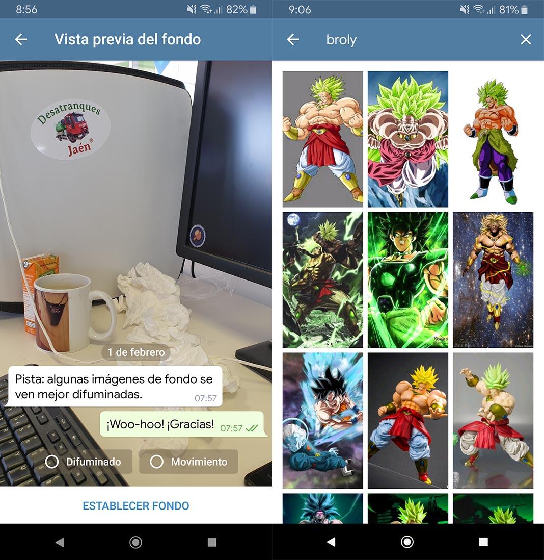 telegram 5 3 chat wallpaper 2 Telegram 5.3 añade nuevas funciones para personalizar nuestro wallpaper