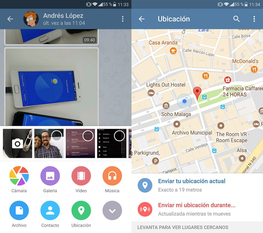 How to Share your real-time location with Telegram