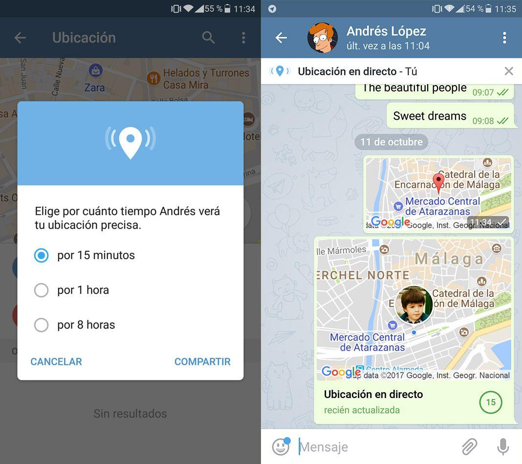 telegram ubicacion gps 2 Cómo compartir nuestra ubicación en tiempo real en Telegram