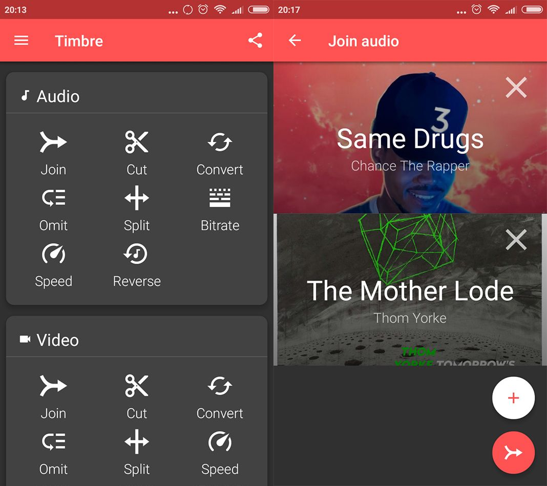 timbre screenshot 1 en Timbre makes audio and video editing on Android a piece of cake