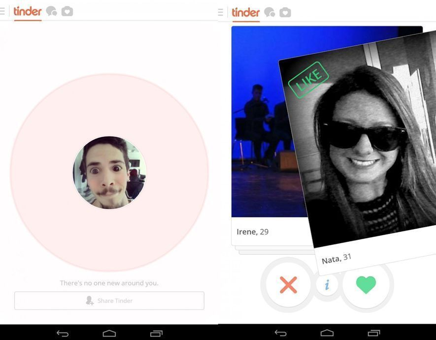 tinder screenshot Cinco apps para disfrutar del Día de San Valentín si eres soltero