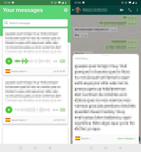 top android julio voicepop Siete apps que añaden nuevas funciones a WhatsApp