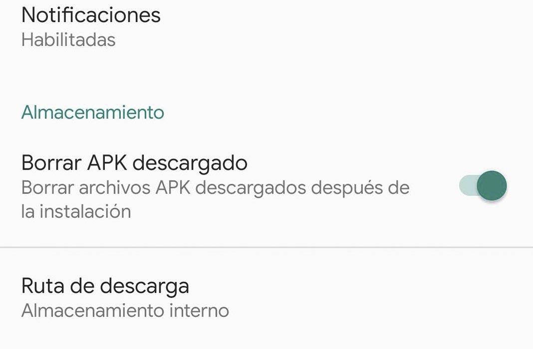 Uptodown guardar APK descargado