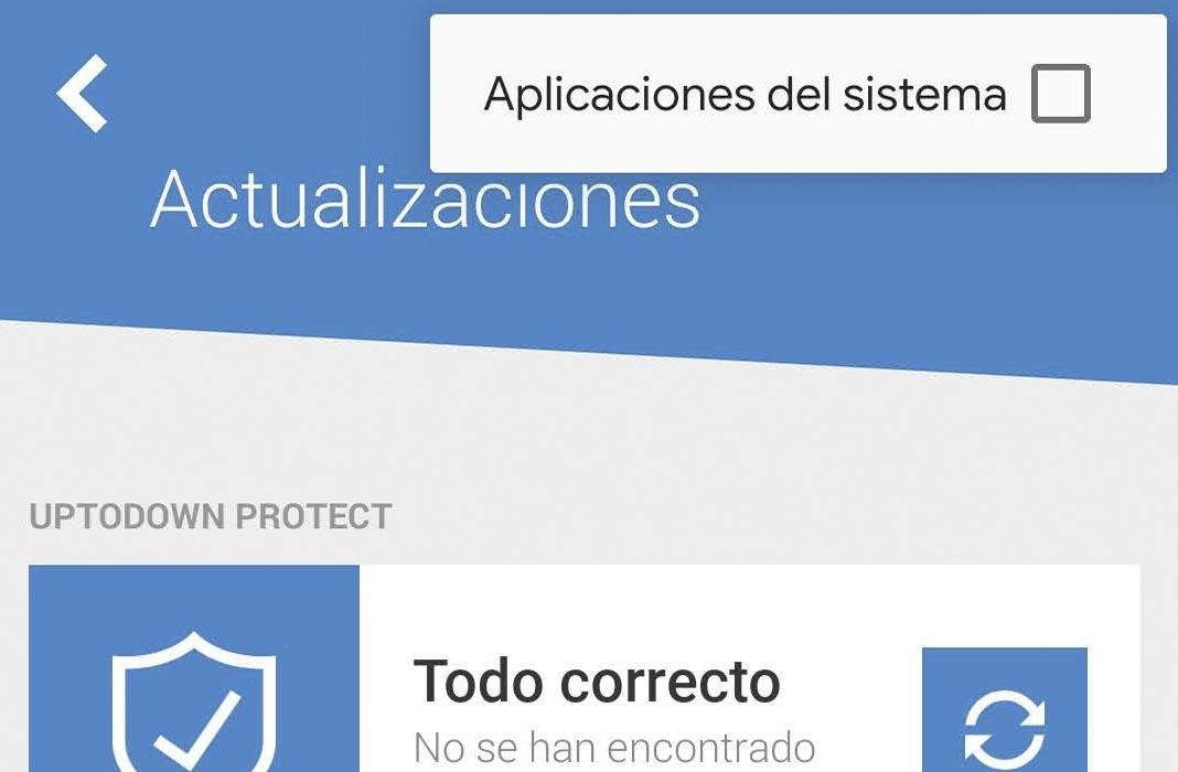 Uptodown actualizar apps del sistema