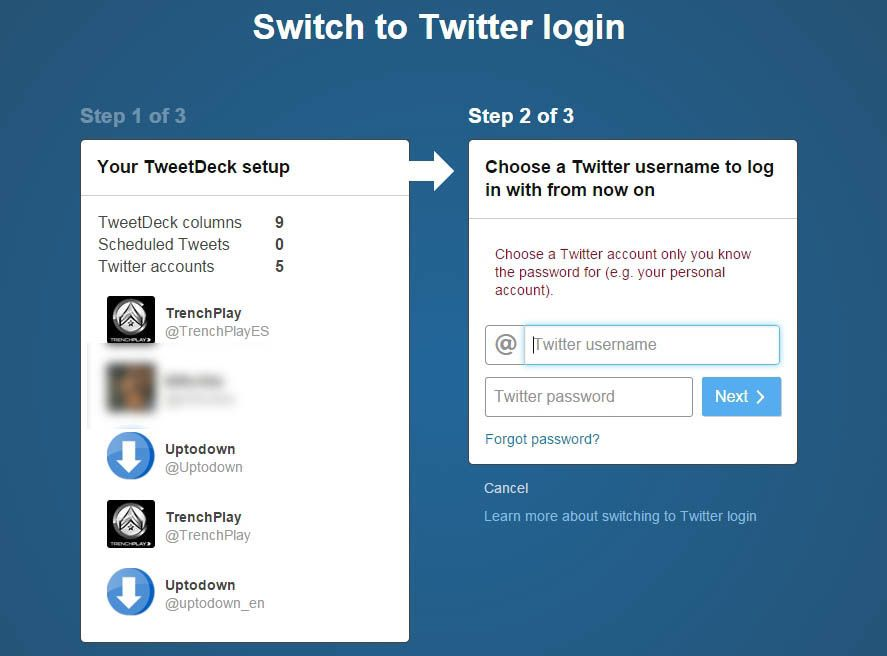 How to switch your TweetDeck login details to your Twitter ones