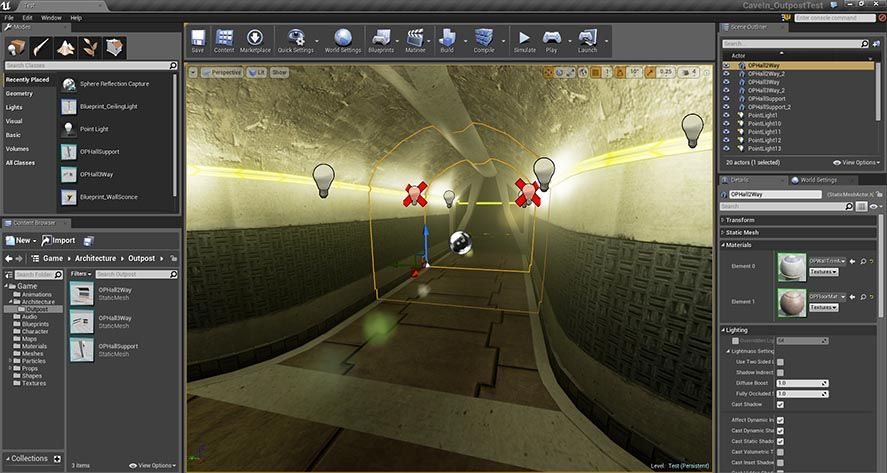 unreal engine screenshot The best tools for creating Android video games
