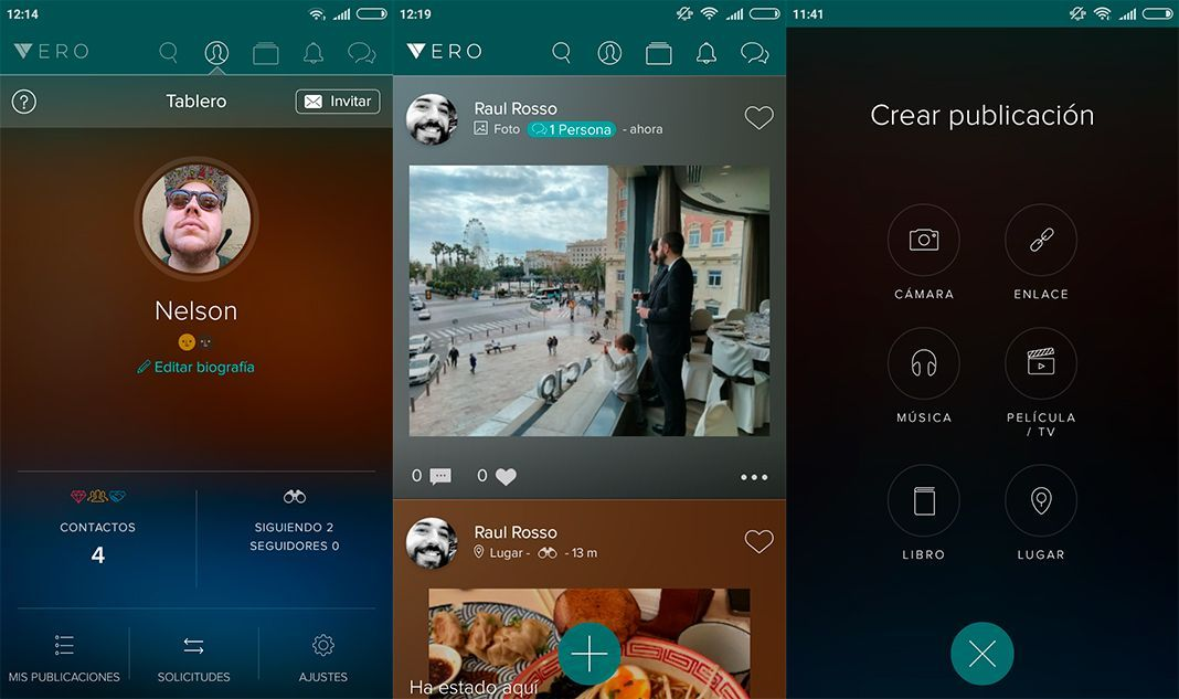 vero screenshot 1 Cómo utilizar Vero, la nueva red social que está de moda