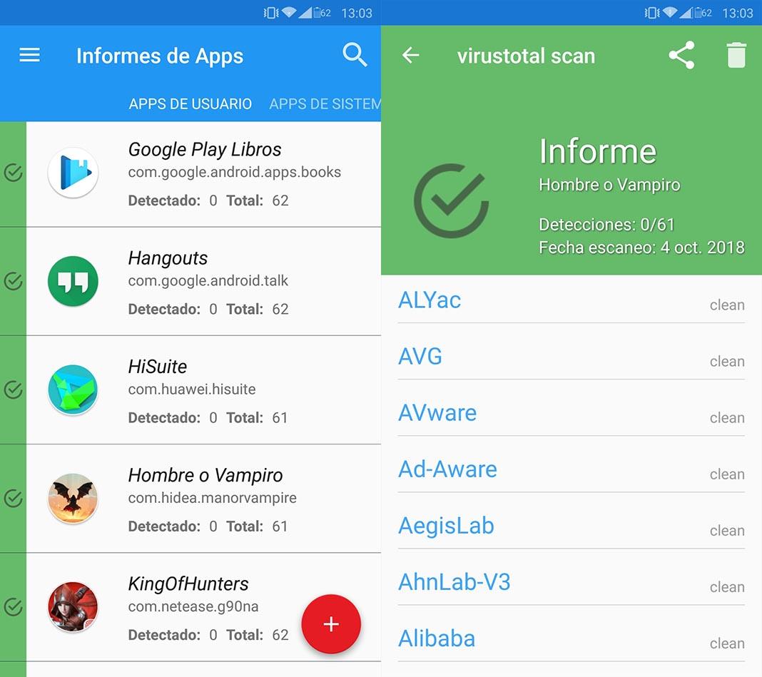 virustotal screenshots new Cinco consejos para proteger nuestro dispositivo Android de Malware