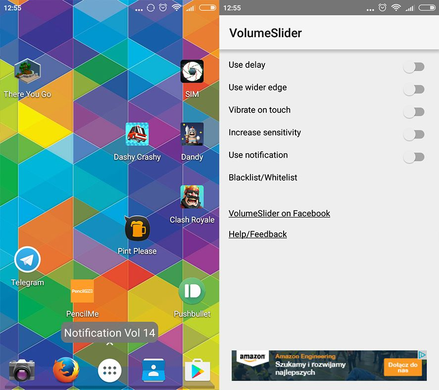 VolumeSlider Android