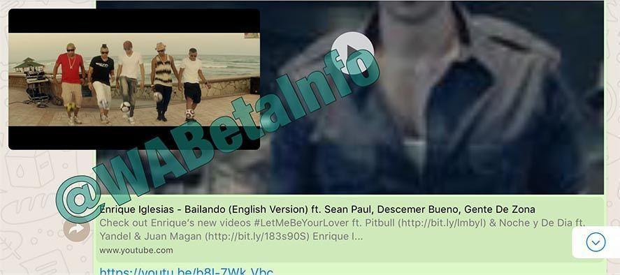 wabetainfo whatsapp youtube WhatsApp permitirá visualizar vídeos de YouTube sin salir de la app