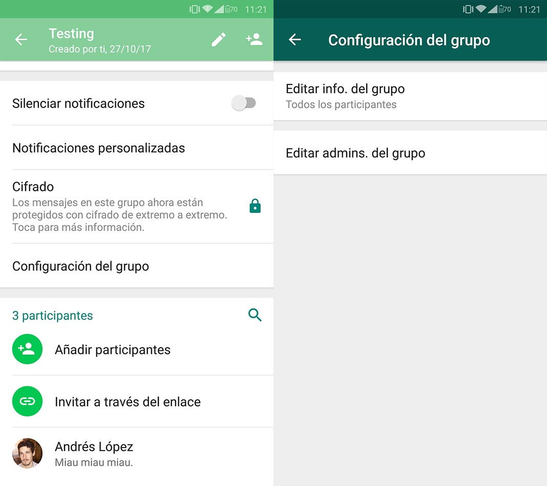 whatsapp administradores tutorial 1 WhatsApp ahora permite elegir a varios administradores en los grupos