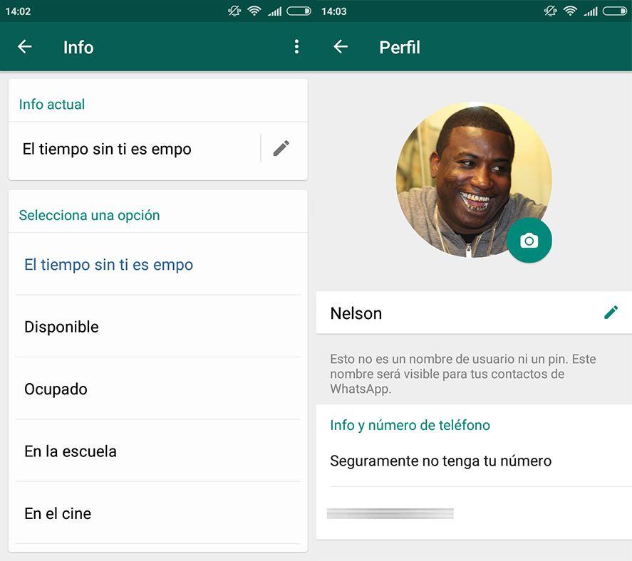 whatsapp estados screenshot 1 WhatsApp regresa a los Estados clásicos y da soporte para GIFs en Gboard
