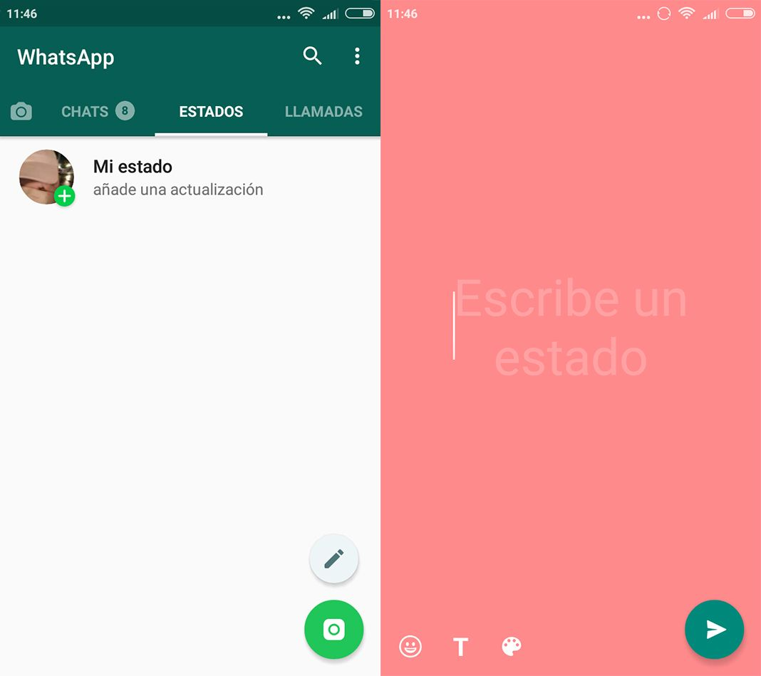 WhatsApp Estados Texto