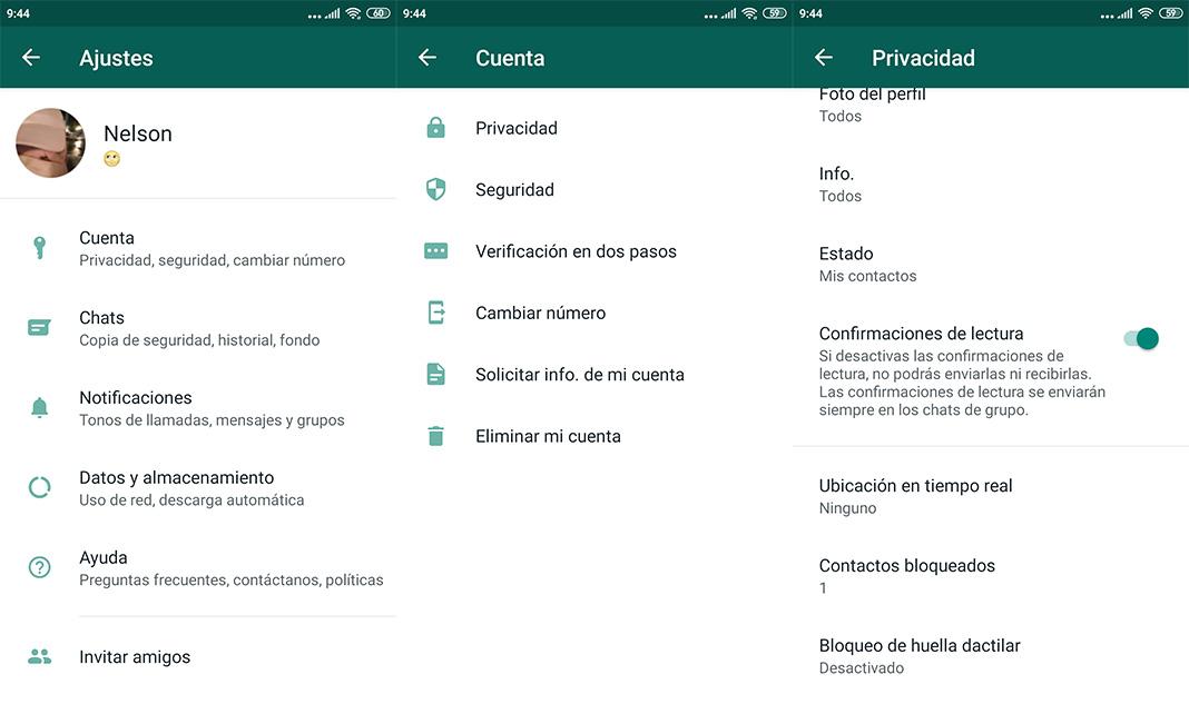 WhatsApp Messenger bloqueo huella