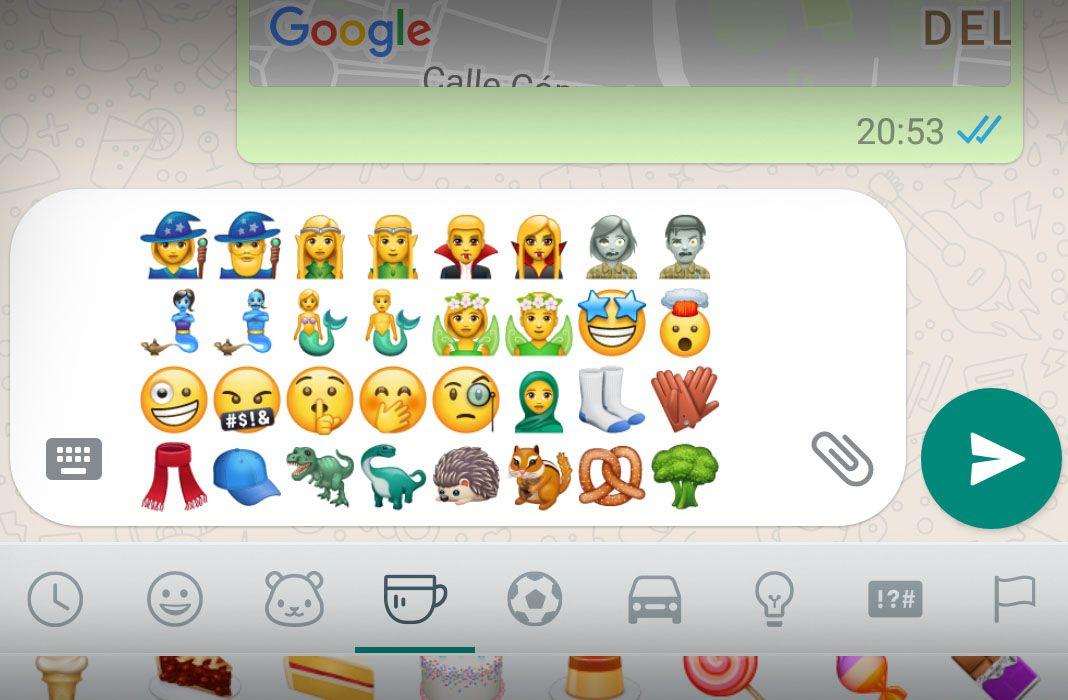 whatsapp new emojis 2 Llegan los nuevos emojis a la última beta de WhatsApp