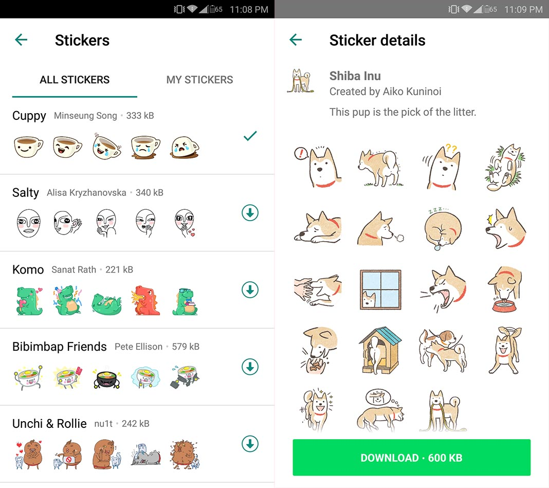 whatsapp stickers 2 Ya puedes utilizar stickers en WhatsApp desde la beta para Android