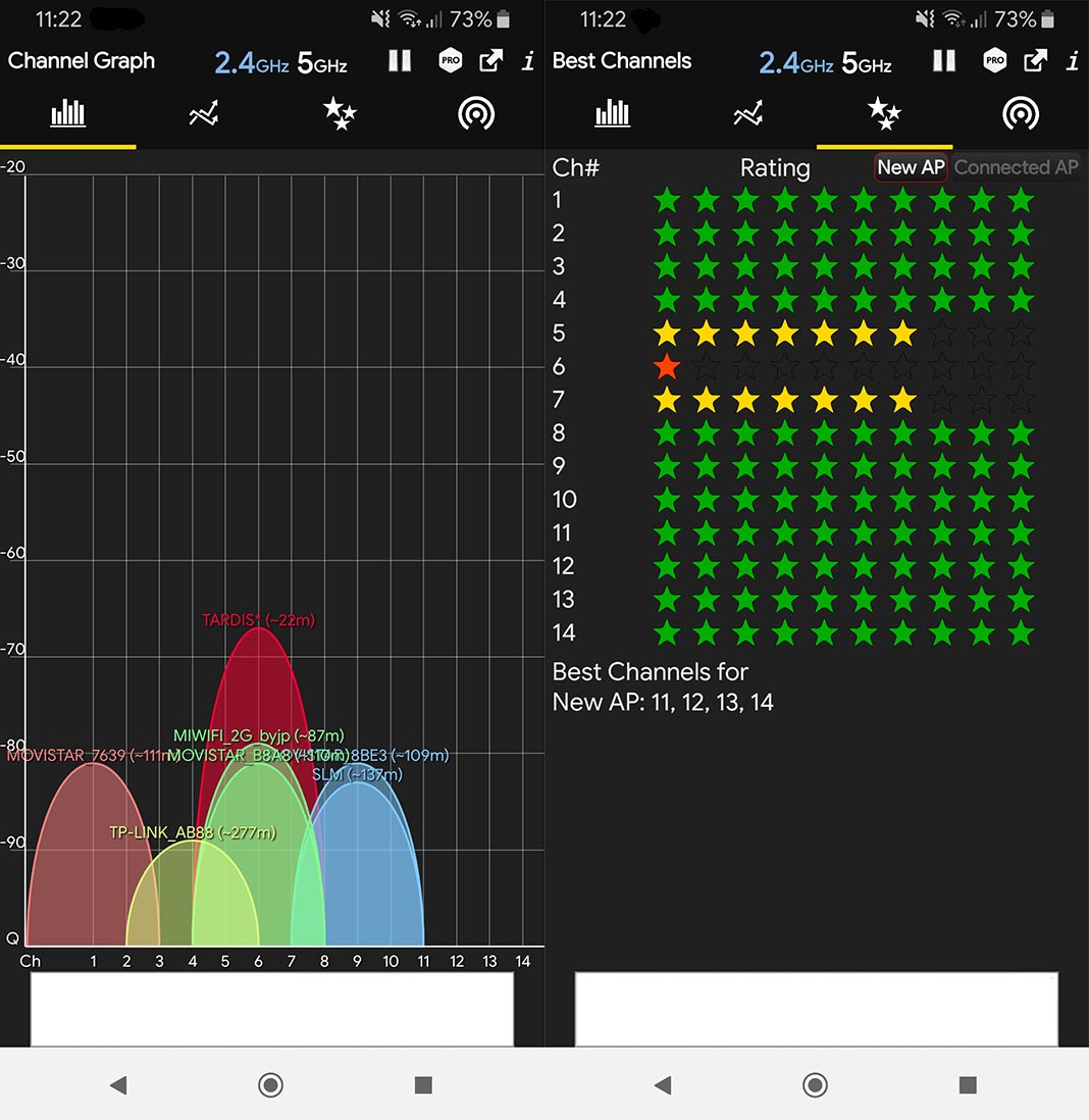 WiFi Analyzer aplicación para Android