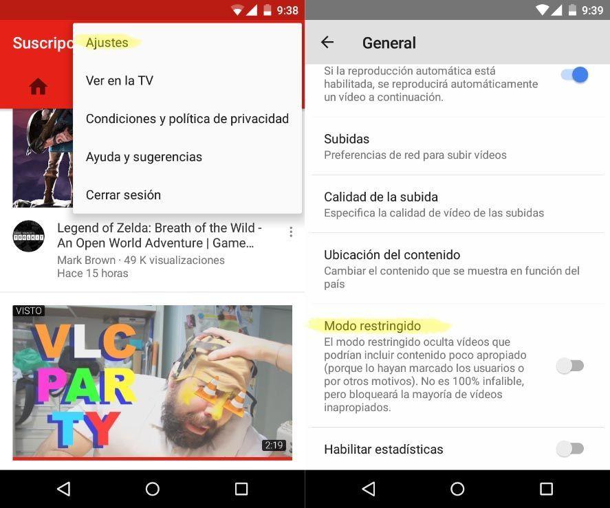 youtube modo restringido screenshot 1 Cómo habilitar el modo restringido en YouTube